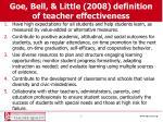 goe bell little 2008 definition of teacher effectiveness