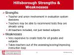 hillsborough strengths weaknesses