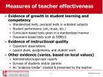 measures of teacher effectiveness