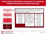 rhode island doe model framework for applying multiple measures of student learning