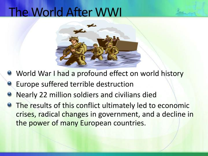 The world after wwi