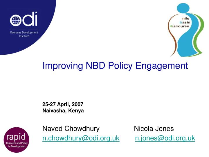 improving nbd policy engagement n.