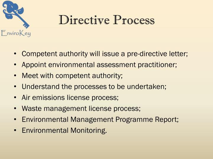 Directive Process