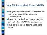 new michigan merit exam mme