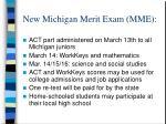 new michigan merit exam mme1