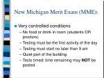 new michigan merit exam mme3