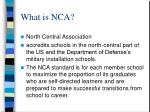 what is nca