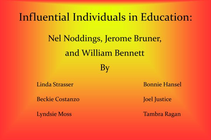 influential individuals in education n.