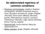 an abbreviated repertory of common conditions4