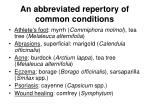 an abbreviated repertory of common conditions7