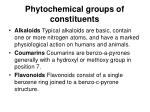 phytochemical groups of constituents1