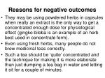 reasons for negative outcomes2