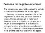 reasons for negative outcomes3