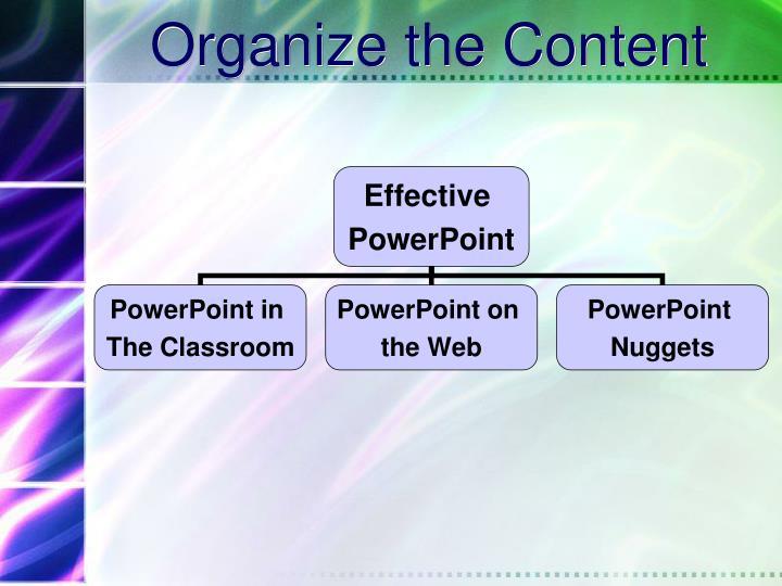 Organize the Content