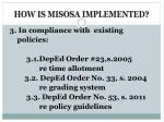 how is misosa implemented2