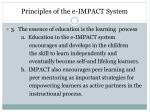 principles of the e impact system2