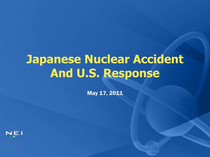 japanese nuclear accident and u s response n.