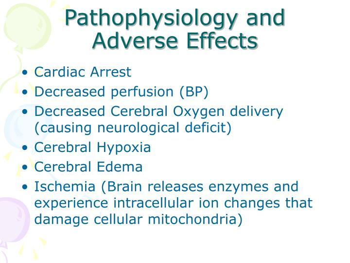 Pathophysiology and Adverse Effects