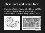 resilience and urban form1