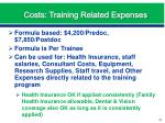 costs training related expenses