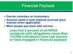 financial payback