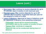 leave cont