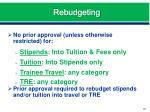 rebudgeting