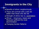immigrants in the city