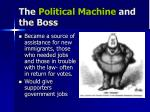 the political machine and the boss