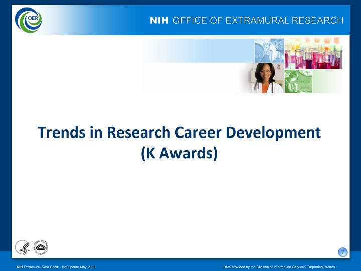 trends in research career development k awards n.