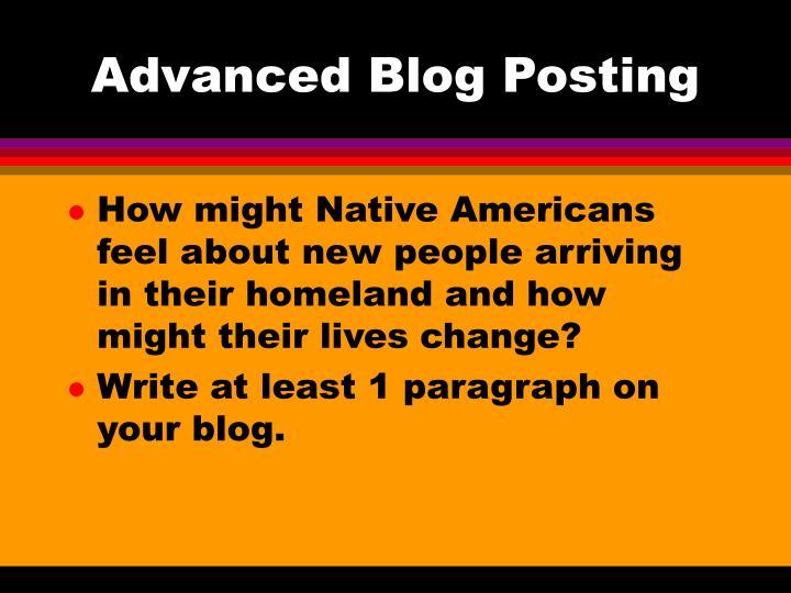 Advanced Blog Posting