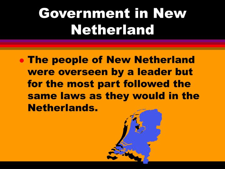 Government in New Netherland
