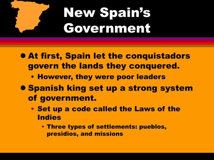 New Spain's Government