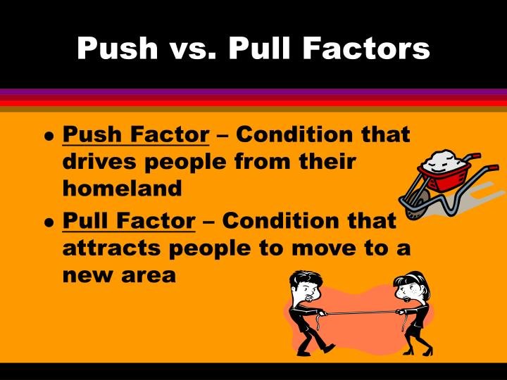 Push vs pull factors