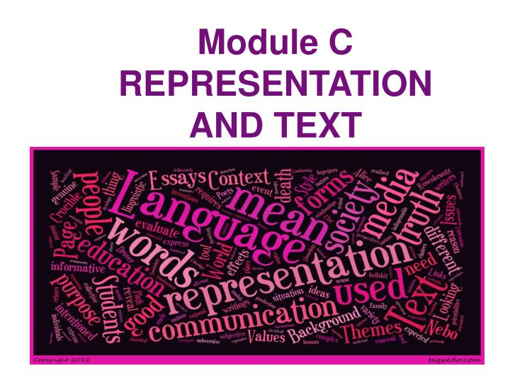 module c representation and text n.