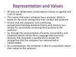 representation and values