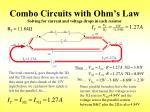 combo circuits with ohm s law solving for current and voltage drops in each resistor
