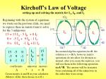 kirchoff s law of voltage setting up and solving the matrix for i a i b and i c