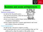 business and social entrepreneurs