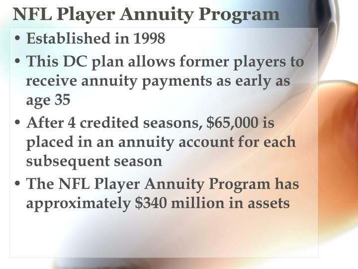 NFL Player Annuity Program