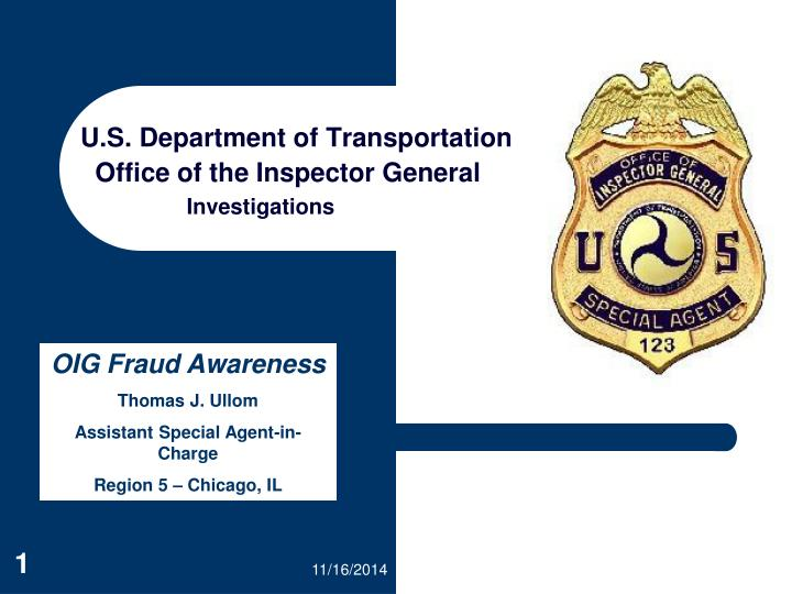 u s department of transportation office of the inspector general n.