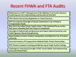 recent fhwa and fta audits