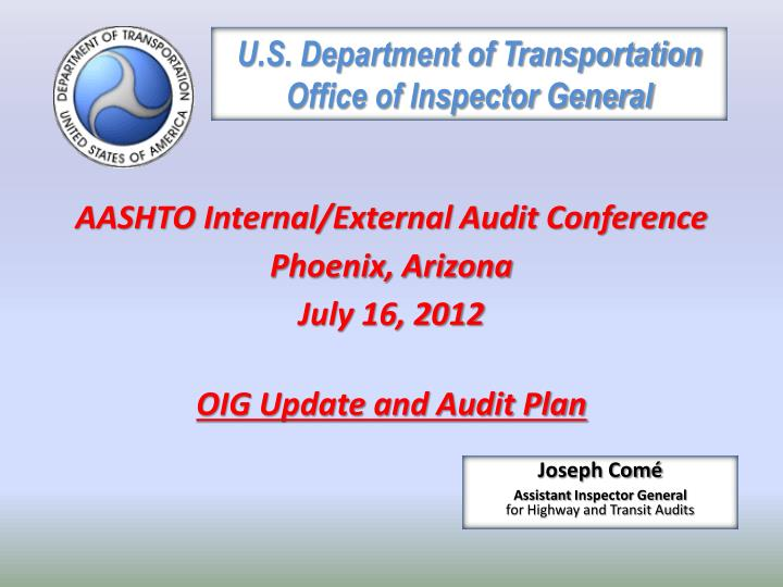 u s department of transportation office of inspector general n.