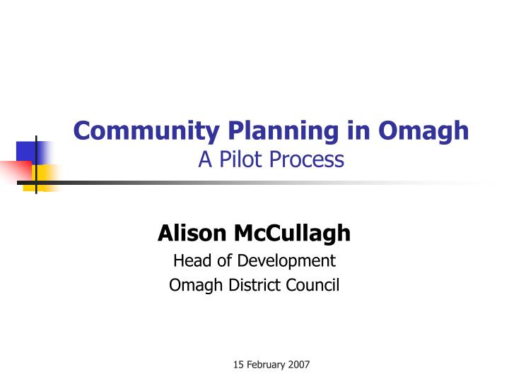 community planning in omagh a pilot process n.