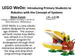 lego wedo introducing primary students to robotics with the concept of systems