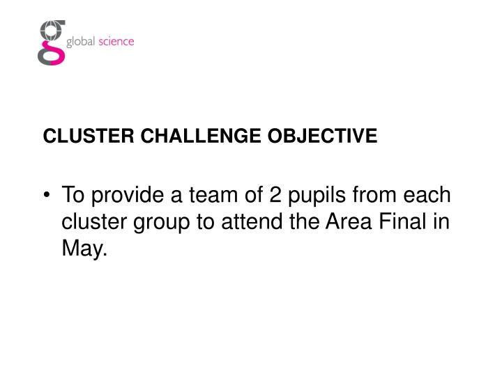 CLUSTER CHALLENGE OBJECTIVE