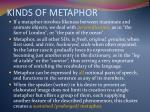 kinds of metaphor