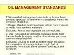 oil management standards
