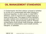 oil management standards1