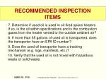 recommended inspection items2